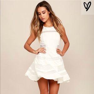 Lulu's Play Nice White Skater Dress